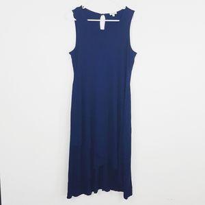 Splendid navy blue swing dress